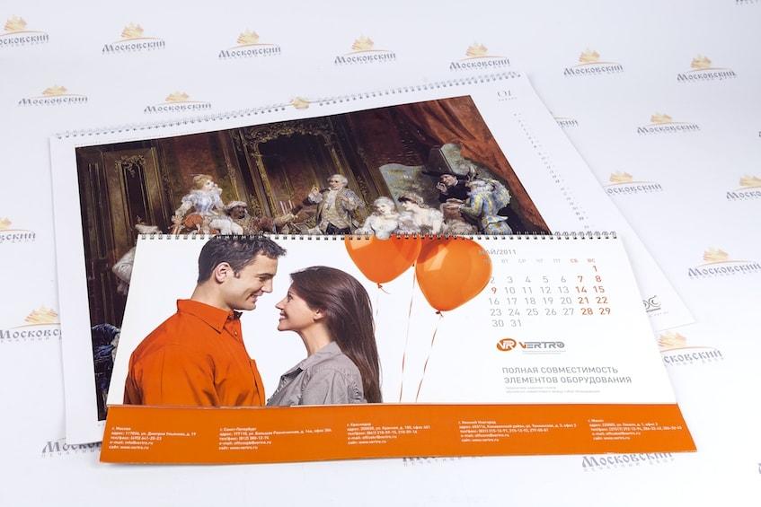 Печать календарей больших форматов